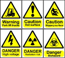 More info on Hazard Warning Signs